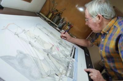 Η ελληνική ναυτοσύνη μέσα από το εντυπωσιακό έργο του σχεδιαστή - ζωγράφου Παναγιώτη Μαστραντώνη